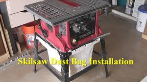 Table Saw Harbor Freight Table Saw Dust Bag Installation Youtube