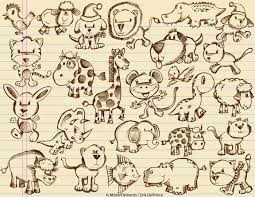 cute animal sketches by erikdeprince on deviantart
