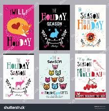 creative cards illustrations prints theme stock vector