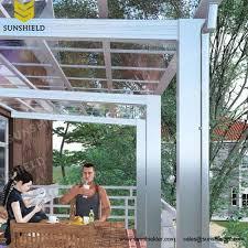Aluminum House Awnings Aluminium Porch Polycarbonate Patio Cover Sunshield Shelter