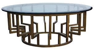 Round Glass Dining Table Wood Base Coffee Table Simple Modern Furniture Of Metal Coffee Table