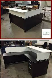 Reception Station Desk Affordable Modern Reception Station In Finish With White