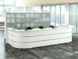 Reception Desk With Glass Display Glass Reception Desk Transparent Glass Reception Desks Design Work