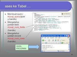 membuat query tabel modul php dan mysql mempelajari koneksi php dengan database mysql