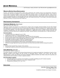 Account Manager Sales Resume Medical Sales Resume Sample Free Resume Example And Writing Download