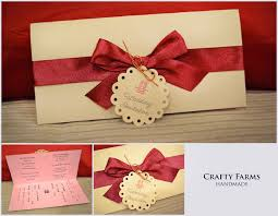 Invitation Cards Handmade - wedding card malaysia crafty farms handmade bow handmade