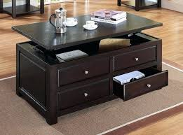 glass top coffee table with storage rectangle coffee table with storage croosle co