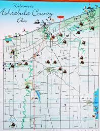 bridges of county map two rv gypsies tour covered bridges in ashtabula county ohio