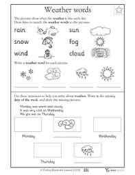 Kindergarten Weather Worksheets This Esol Is A Great Resource For Students To Be Able To Recognize
