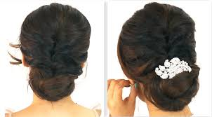 5min easiest party updo everyday braided bun prom hairstyles