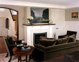 brown velvet sofa living room contemporary with artwork brown