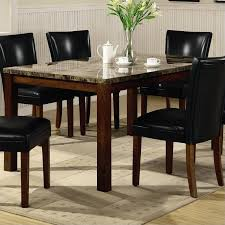 Dfs Dining Room Furniture Coaster Telegraph Marble Top Rectangular Dining Table In Brown