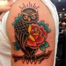 owl tattoo owltattoo portland oregon traditional oldschool