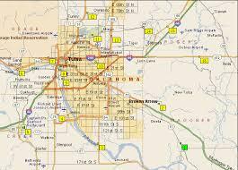 map of tulsa maps ride maps tulsa bicycle