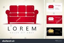 furniture name furniture sofa vector business card template stock vector