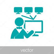 ikona správce systému ikonu tento počítač technika u2014 stock