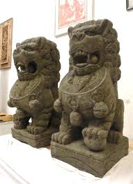 foo dog statues large fu foo dog lion statues solid carved garden temple