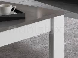 table basse madonna carrée blanc laque gris laque chez mobistoxx