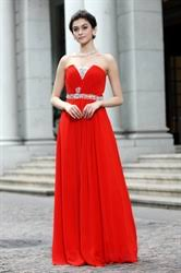 long red chiffon prom dress red prom dresses with lace top
