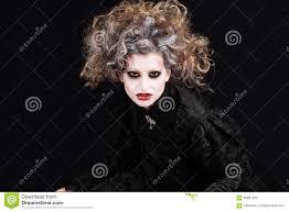vampire woman portrait halloween make up stock photo image