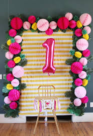 1st birthday party flamingo and pineapple birthday party