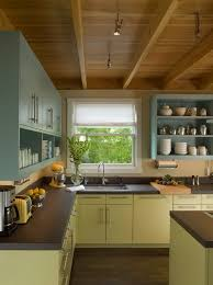 Green Painted Kitchen Cabinets Stylish Two Tone Kitchen Cabinets For Your Inspiration Hative