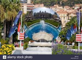 Monte Carle Reflection Of Monte Carlo Casino In Mirror Above Fountain Place