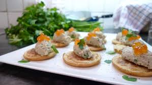 pate canapes smoked mackerel and apple blinis catered chalet recipes
