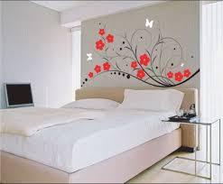 bedroom delightful ideas paint bedroom room walls interior bedroom delightful ideas paint bedroom room walls interior design with red flowers and white butterflies wall sticker on gray wall along brown bed with