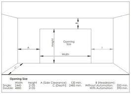 Garage Size Door Heights U0026 Dimensions For Signage Glazing And Extra Pull