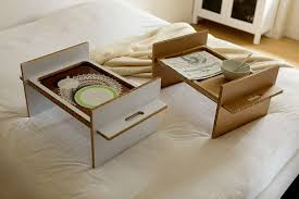 Laptop Bed Tray small custom wood breakfast over the bed tray table with cup