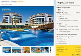 all inclusive package to turkey just 264 each 2016