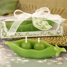 2 peas in a pod two peas in a pod candle favors