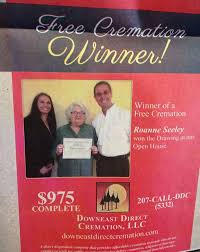free cremation contest prizes winners woman ecstatic about winning free