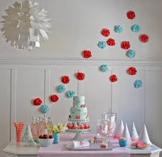 Cake Decoration At Home Birthday Blue And Red Girls Birthday Cake Decoration