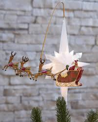 santa s sleigh animated tree topper balsam hill