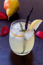 vanilla pear rum cocktail