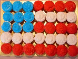 Flag Cakes Flag Cupcakes Cuppie Cakes