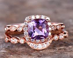 amethyst engagement ring sets amethyst engagement ring etsy