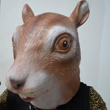 umiwe magical creepy halloween costume squirrel head latex