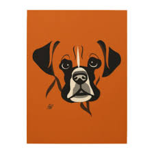 boxer dog art boxers wood wall art zazzle