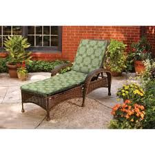 better homes and gardens chaise cushion green tulip medallion