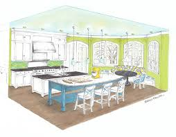 kitchen perspective and color rendering on behance