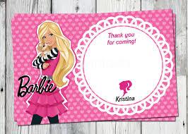 barbie custom invitations stephenanuno com