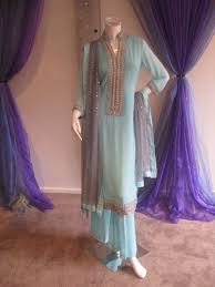 pakistani casual fashion light blue casual wear dress latest