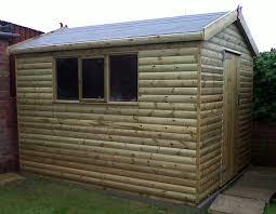 outdoor interesting yardline sheds design at backyard