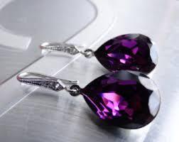 purple earrings purple earrings etsy purple purple earrings