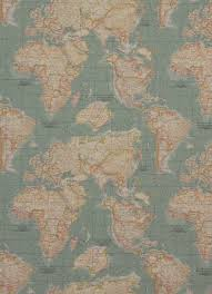 Map Fabric World Map Fabric