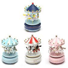 musical carousel wooden carousel box child baby ebay