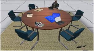 Circular Office Desk Second Life Marketplace Circular Desk Office Desk Meeting